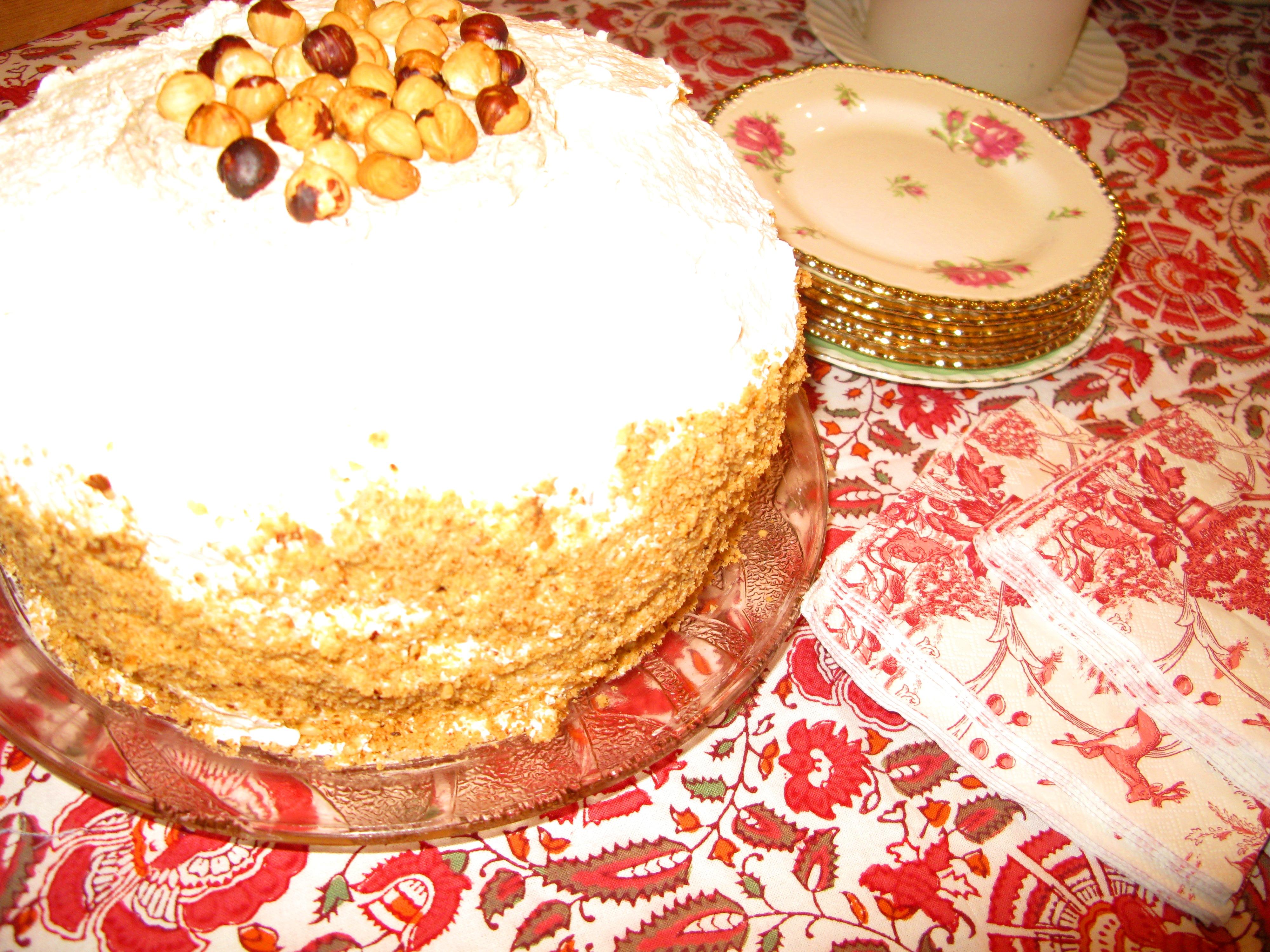 Hazelnut Cake with Praline Buttercream