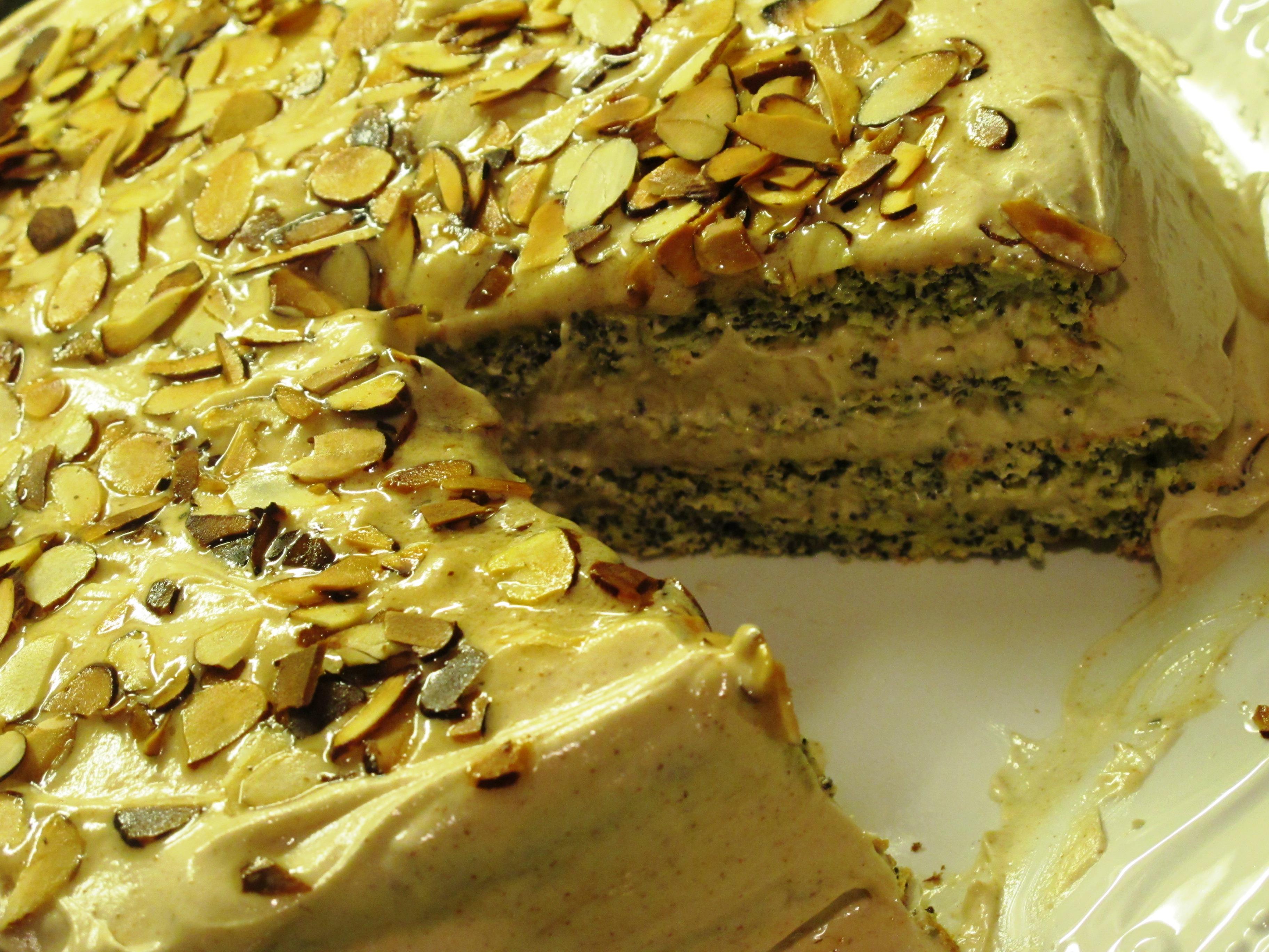 Makova Torta - Lemon Poppy Seed Cake
